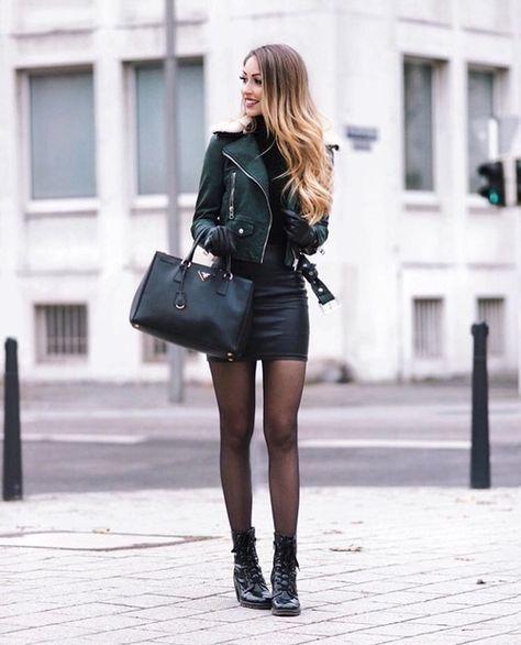 phối đồ với chân váy ôm đen