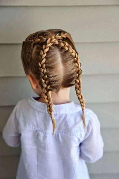 tết tóc cho bé gái tóc ngắn