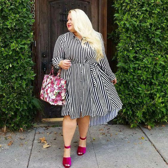 người béo nên mặc váy kiểu gì