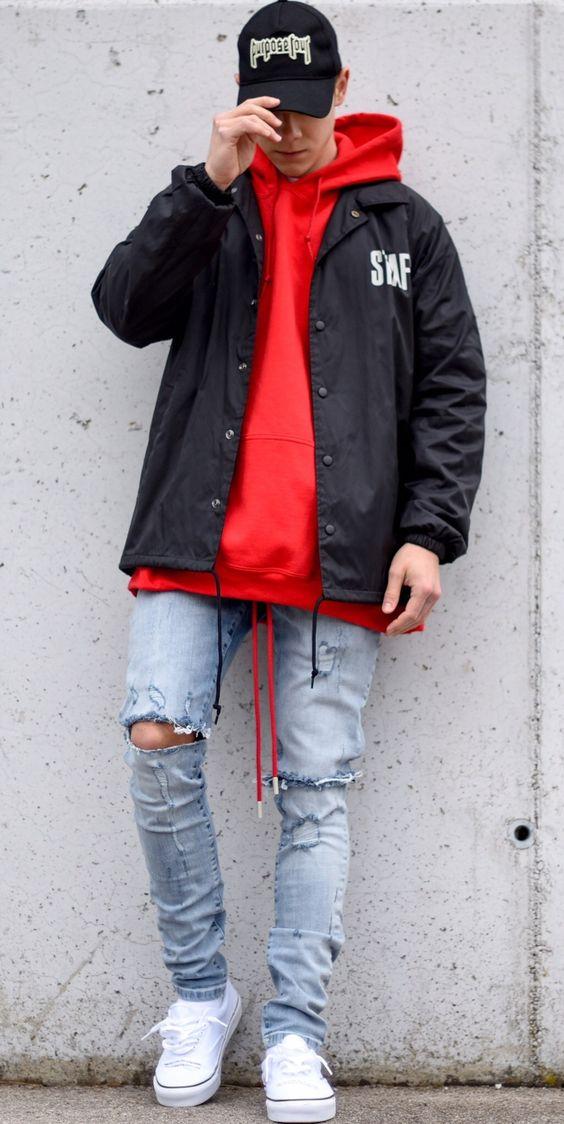 cách phối đồ cho nam giới với áo hoodie