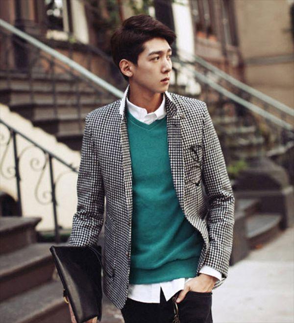 áo len và sơ mi