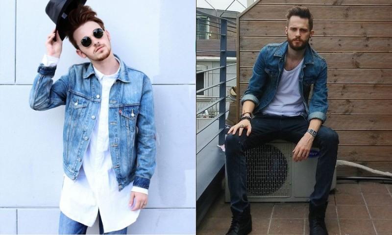 quần jean và áo khoác denim