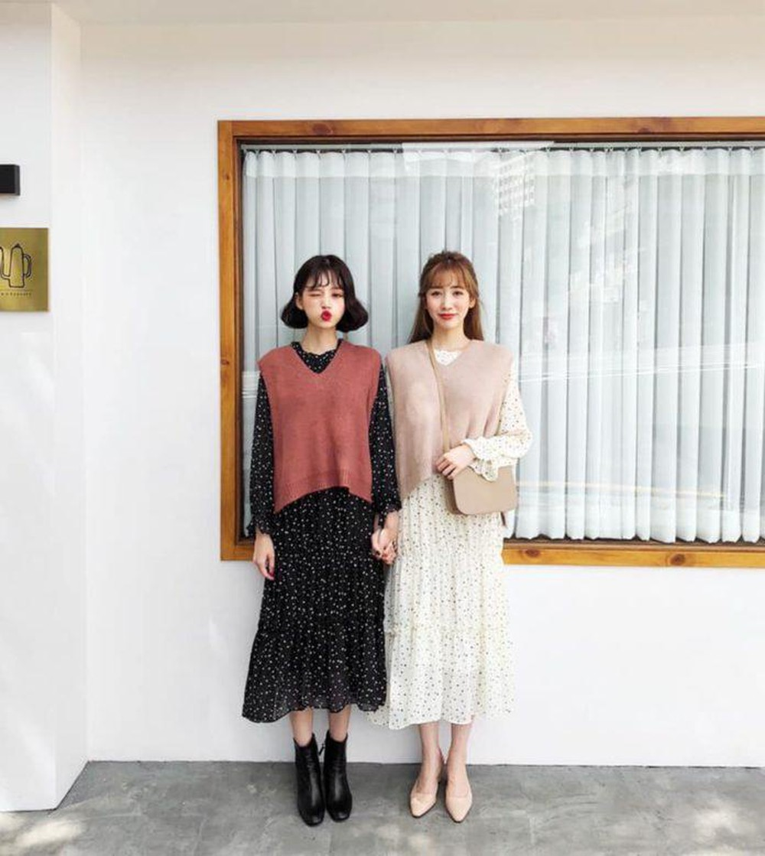 váy và áo gile